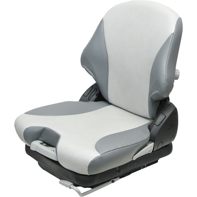 K & M Low-Profile Mechanical Suspension Seat — 2-Tone Gray, Model# 8462