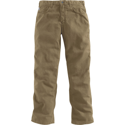 Carhartt Men's Flame-Resistant, Relaxed Fit,  Midweight Canvas Pants — Golden Khaki, 40in. Waist x 32in. Inseam, Regular Style, Model# FRB159