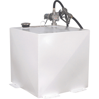 Better Built Steel Transfer Fuel Tank With GPI 12V Fuel Transfer Pump — 50-Gallon, White, Square, 8 GPM, Model# 29214889
