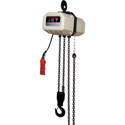JET Electric Chain Hoist — 1/2-Ton, 20ft. Lift, 1-Phase, Model# 1/2SS-1C-20