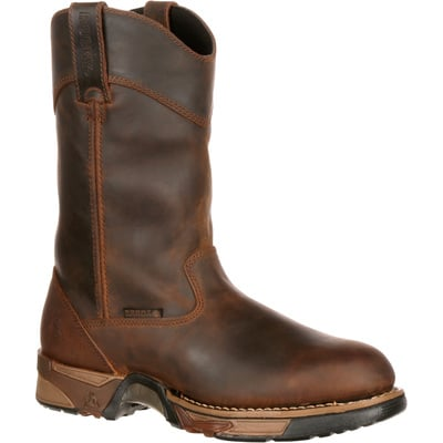 Rocky Men's Aztec 11in. Waterproof Wellington Work Boot - Brown, Size 10, Model# 5639