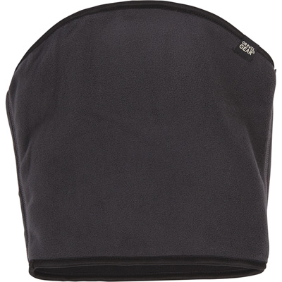 Gravel Gear Men's Reversible Wind-Resistant Fleece Gaiter — Black/Charcoal, One Sizes Fits Most