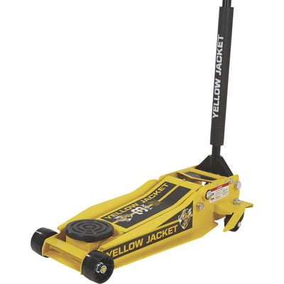 Yellow Jacket Low-Profile Super-Duty Jack — 3-Ton Lift Capacity, 4in.–23in. Lift Range
