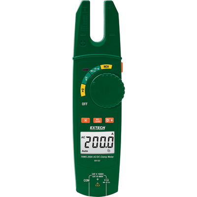 Extech AC/DC Open Jaw Clamp Meter, Model# MA160