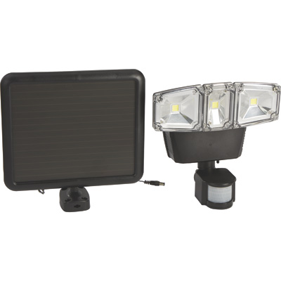 Strongway Solar Motion-Activated COB LED Triple Head Light, 1200 Lumens, 260 LEDs