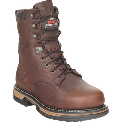 FREE SHIPPING — Rocky Men's IronClad 8in. Waterproof Work Boots - Brown, Size 12, Model# 5693