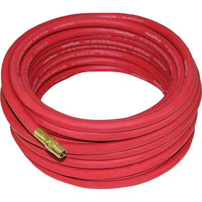 Goodyear Rubber Air Hose — 1/4in. x 25ft., Red, Model# 12180
