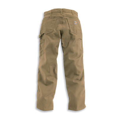 Carhartt Men's Flame-Resistant, Relaxed Fit,  Midweight Canvas Pants — Golden Khaki, 52in. Waist x 30in. Inseam, Big Style, Model# FRB159
