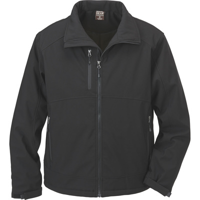 FREE SHIPPING - Gravel Gear Men's Double Weave Insulated Ripstop Softshell Jacket - Black, 2XL