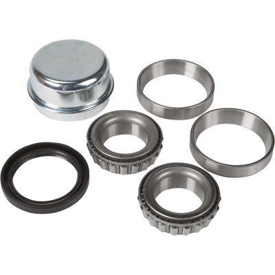 Ultra-Tow High-Performance Hub Bearing/Seal Kit — 1 1/4in. Inner Bearing, 1 1/4in. Outer Bearing, 1 1/2in. Double-Lip Spring-Loaded Oil Seal, 2.328in. Dust Cap, Model# 5712585