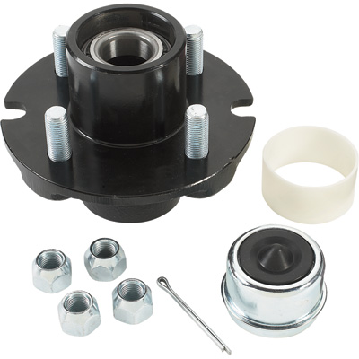 Ultra-Tow XTP Ultra-Pack Trailer Hub —  4 on 4in. 1250 lb. Capacity