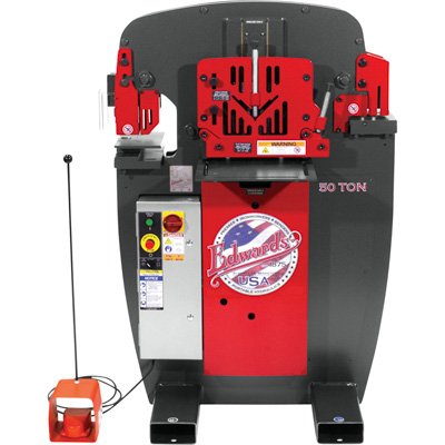 FREE SHIPPING — Edwards JAWS 50-Ton Ironworker with Accessory Pack — Single Phase, 230 Volt, Model# IW50-1P230-AC500