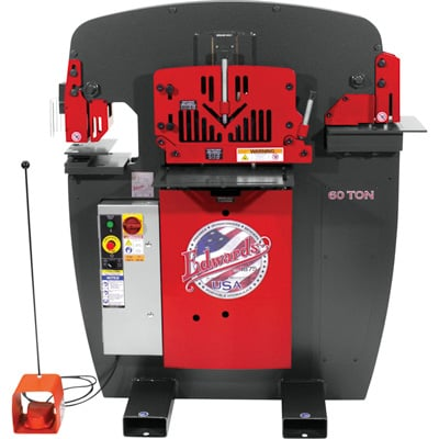 FREE SHIPPING — Edwards JAWS 60-Ton Ironworker with Accessory Pack — 3-Phase, 460 Volt, Model# IW60-3P460-AC500