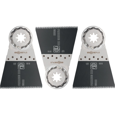 FREE SHIPPING — Fein Japanese Style Saw Blades — 3-Pk., 2 9/16in. Wide, For Oscillating Tool, Model# 63502127270