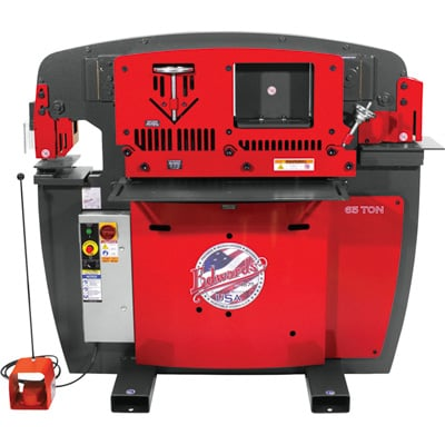 FREE SHIPPING — Edwards JAWS 65-Ton Ironworker with Accessory Pack — 3-Phase, 208 Volt, Model# IW65-3P208-AC600