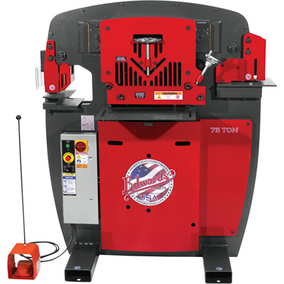 FREE SHIPPING — Edwards JAWS 75-Ton Ironworker with Accessory Pack — Single Phase, 230 Volt, Model# IW75-1P230-AC700