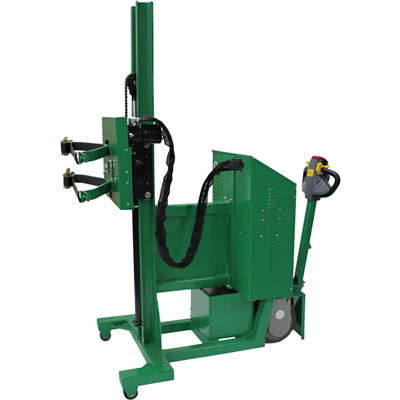 Valley Craft Power Drive Roto Drum Lifter — 1000-Lb. Capacity, 78in. Lift, 360° Rotation