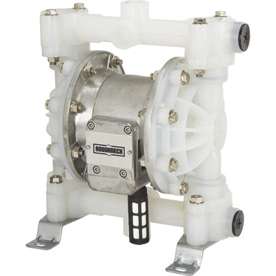 Roughneck Air-Operated Double Diaphragm Pump — 3/4in. Ports, 16 GPM, Polypropylene