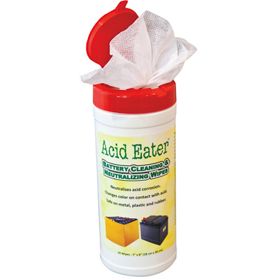 Acid Eater Battery Cleaning & Neutralizing Wipes — 12-Ct. Case of 30-Ct. Pkgs.