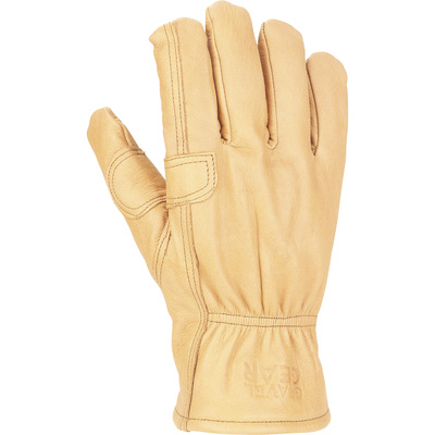 FREE SHIPPING — Gravel Gear Men's Insulated Cowhide Work Gloves with Thinsulate — Brown, XL