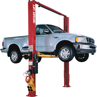 FREE SHIPPING — Rotary Lift 2-Post Truck Lift with Adapters — 10,000-Lb. Capacity, Red, Model# SPO10N5T0RD
