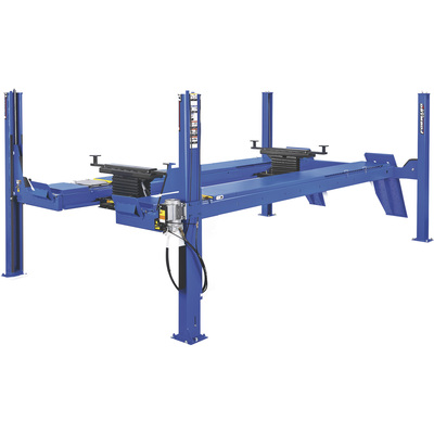 FREE SHIPPING — Forward Lift 4-Post Open Front Truck and Car Lift — 14,000-Lb. Capacity, 158in. Wheelbase, Blue, Model# OR14N100YBL