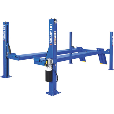 FREE SHIPPING — Rotary Lift 4-Post Open Front Truck and Car Lift — 14,000-Lb. Capacity, 182in. Wheelbase, Blue, Model SMO14N101YBL