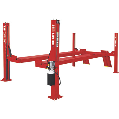 Rotary Lift 4-Post Open Front Truck and Car Lift — 14,000-Lb. Capacity
