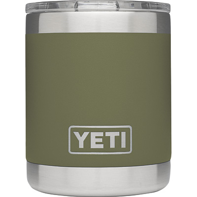 Yeti 10-Oz. Insulated Lowball Drink Holder with Shatter-Resistant Lid — Olive