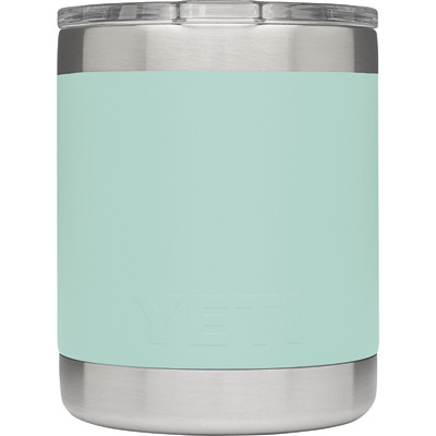 Yeti 10-Oz. Insulated Lowball Drink Holder with Shatter-Resistant Lid — Seafoam