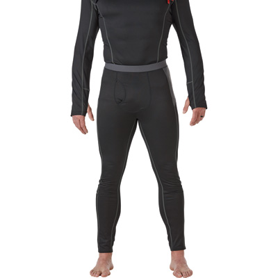 FREE SHIPPING - Gravel Gear Men's Active-Weight Base Layer Pants — Black, 2XL