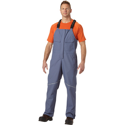 FREE SHIPPING - Gravel Gear Men's Waterproof Breathable Midweight Rain Bib Overalls - Midnight, XL