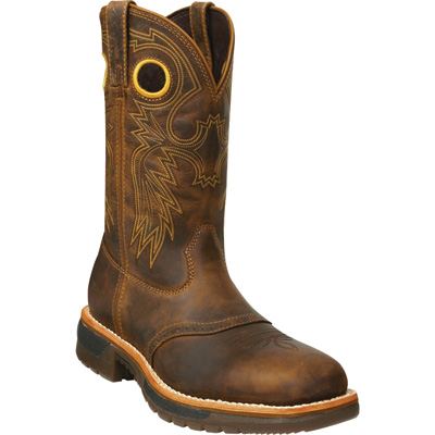FREE SHIPPING — Rocky Men's 11in. Original Ride Steel Toe EH Western Work Boot —  Brown