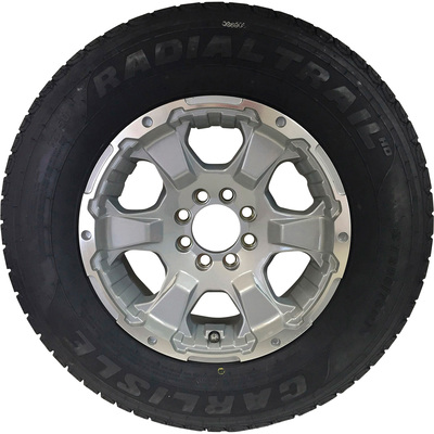 FREE SHIPPING — Carlisle Radial HD Trailer Tire and Intruder Aluminum Wheel Assembly — ST235/80R16 LRE