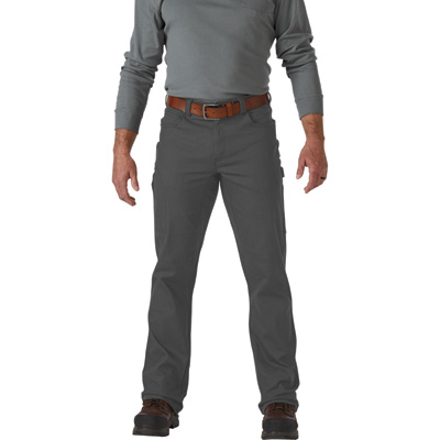 FREE SHIPPING - Gravel Gear Men's Flex Wear 8.75-Oz. Carpenter Pants with Teflon Fabric Protector - Mushroom, 38in. Waist x 34in. Inseam