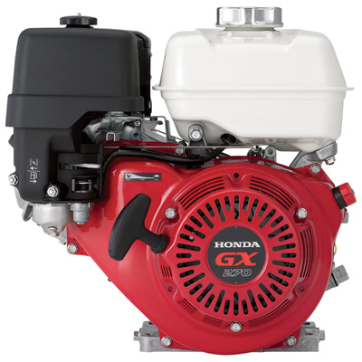 """Honda Horizontal OHV Engine for Non-Honda Pumps - 270cc, GX Series, Threaded 1in. x 3 1/2in. Shaft, Model# GX270UT2PA2"""