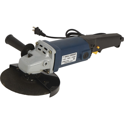 Buffalo Tools 7in. Angle Grinder 8000 RPM, 14 Amp, Model# COAG7
