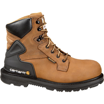 Carhartt Men's 6in. Waterproof Work Boots - Bison Brown, Size 9, Model# CMW6220