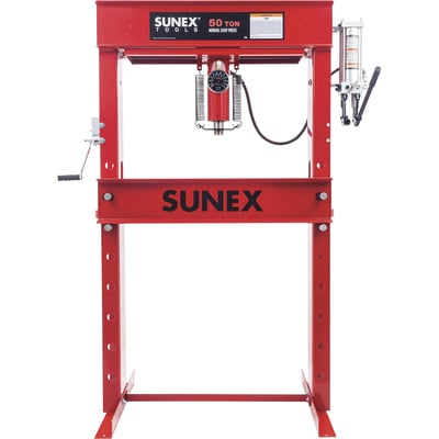 SUNEX 50-Ton Manual Hydraulic Shop Press — Model# 5750