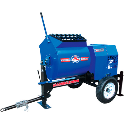 FREE SHIPPING — Marshalltown 1200MP Mortar/Plaster Mixer with Pintle Tow Outrigger and 3 HP Electric Engine — Model# 1200MP3EPO