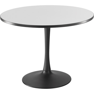 Safco Cha-Cha 42in. Round Sitting-Height Table with Trumpet Base – Gray/Black, Model# 2479GRBL