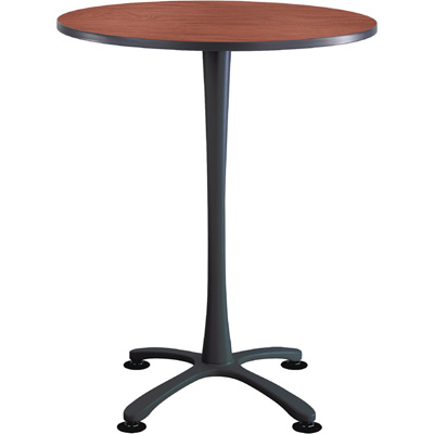 Safco Cha-Cha 36in. Round Bistro-Height Table with X-Style Base – Cherry/Black, Model# 2482CYBL
