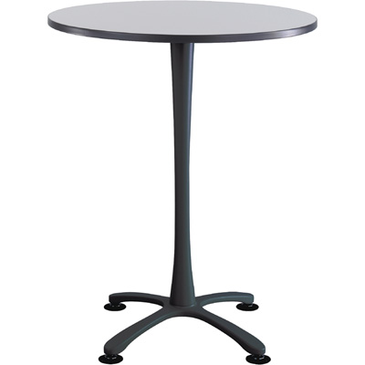 Safco Cha-Cha 36in. Round Bistro-Height Table with X-Style Base – Gray/Black, Model# 2482GRBL