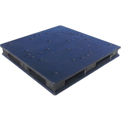 Full Circle Packaging Stackable/Rackable Solid Deck Plastic Pallet — 48 1/4in.L x 48 1/4in.W x 6 3/16in.H, Model# FCP-S-48-SRH