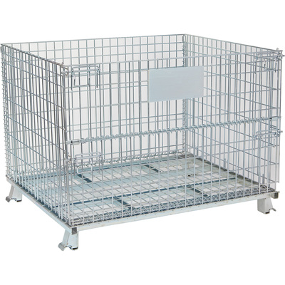 Tekrite Foldable Wire Mesh Basket — 2200-Lb. Capacity, 48in.L x 40in.W x 36in.H