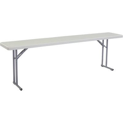 National Public Seating Plastic Folding Table — 18in.W x 96in.L, Model# BT1896