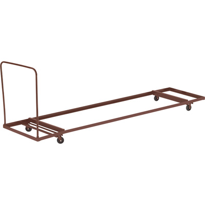 National Public Seating Folding Table Dolly — Dark Brown, 90 1/4in.Lx 31in.W x 43in.H, Model# DY-3096