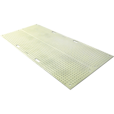 TuffTrak Trakmat Ground Protection Mat — Green, 8ft.L x 4ft.W, Power Cylinder Traction Tread Design, Model# TM4496-G