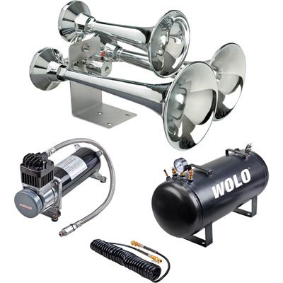 Wolo Cannon Ball Express Pro Plus Train Horn — 3 Trumpets, 5-Gal., 152 dB, Model# 837-860