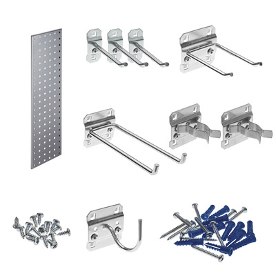Triton LocBoard Garden Pegboard Strip Kit — 31 1/2in.L x 9in.W, Model# LBS31G-SLV